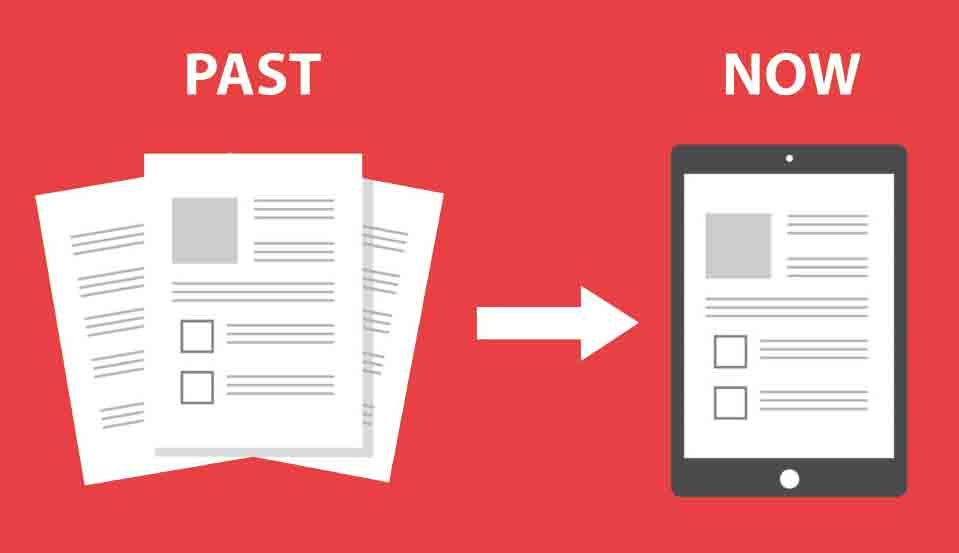 Paperless before after