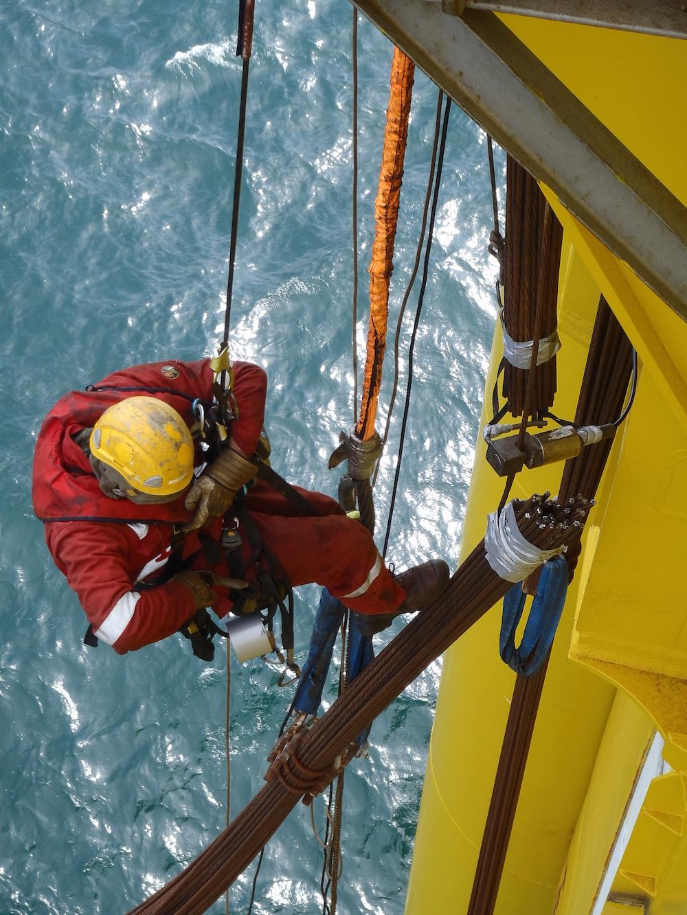 Rope access cost savings